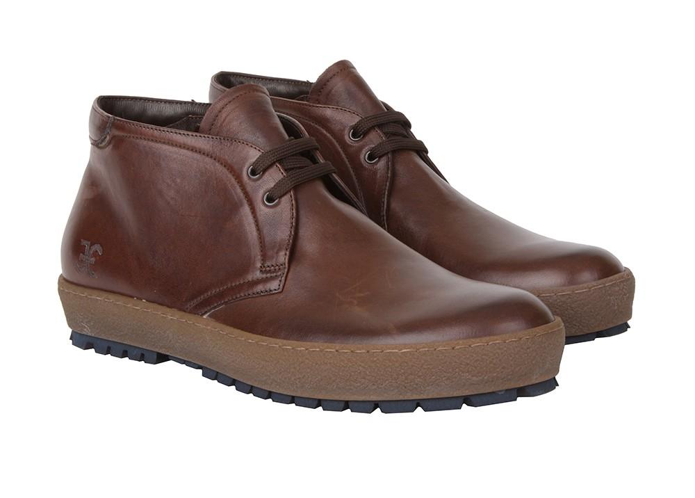 Коричневые стильные мужские ботинки Fabi F1180 на шнуровке фото ... 0324e01a113